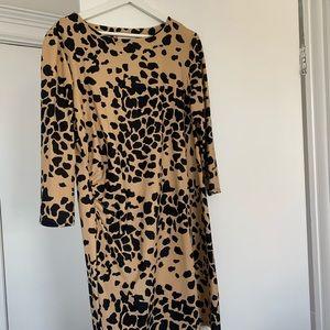Jude Connally Dresses - Jude Connally Animal Print Office Dress